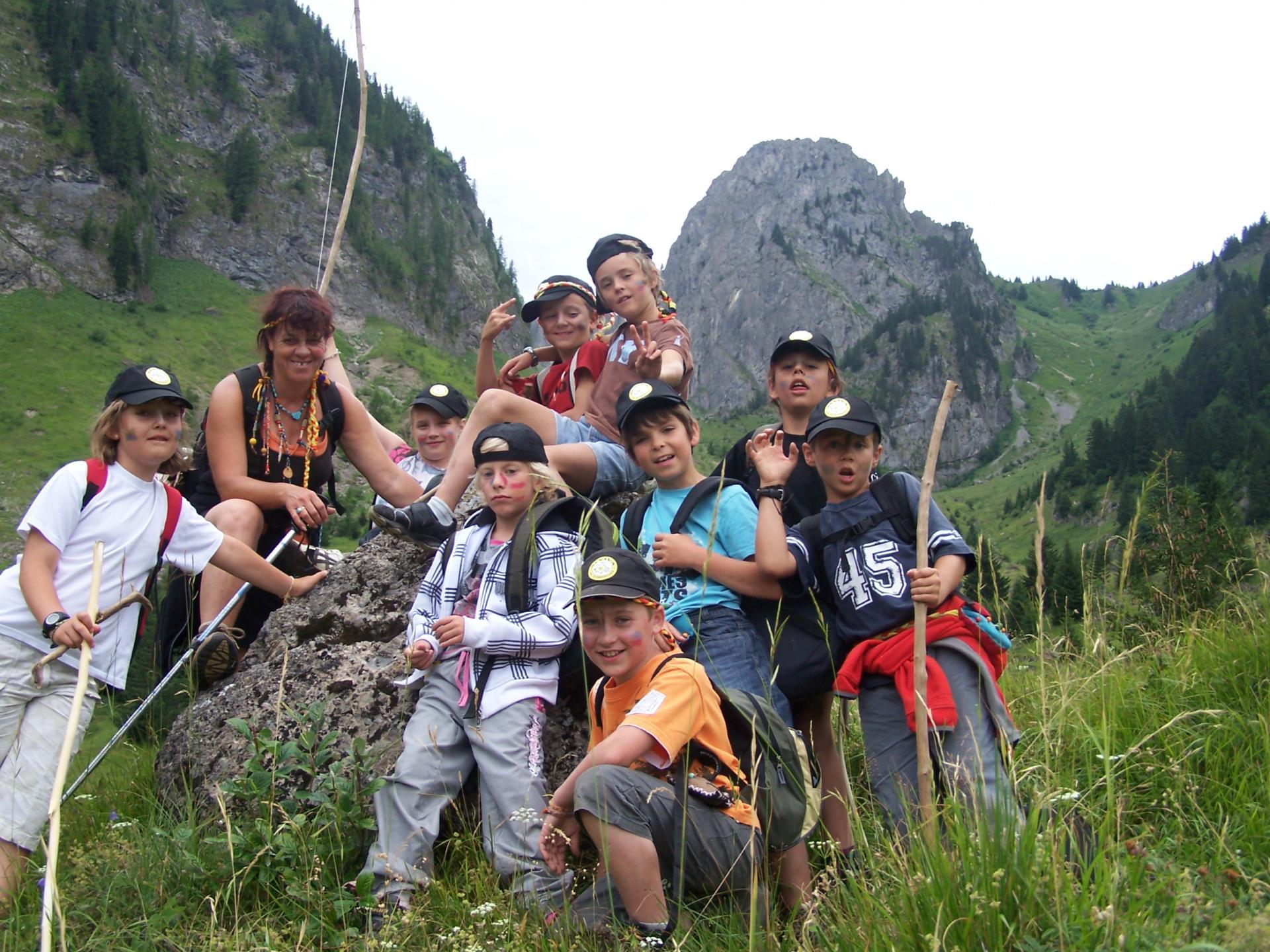 alpage du seranant avec les enfants d'abondance